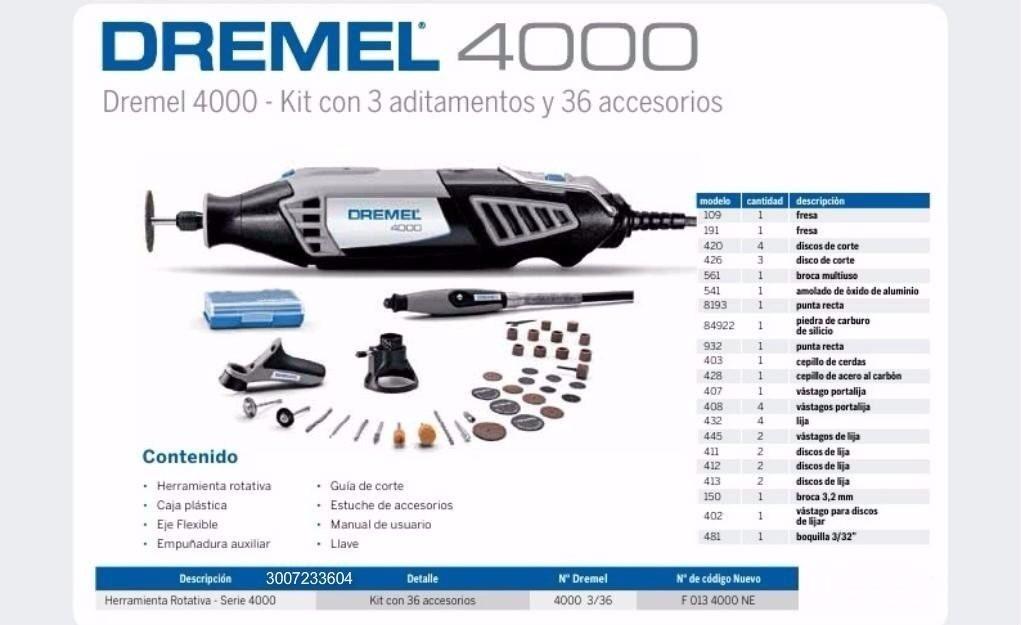 Dremel 4000 nuevo en caja s 370 00 en mercado libre - Precio dremel 4000 ...