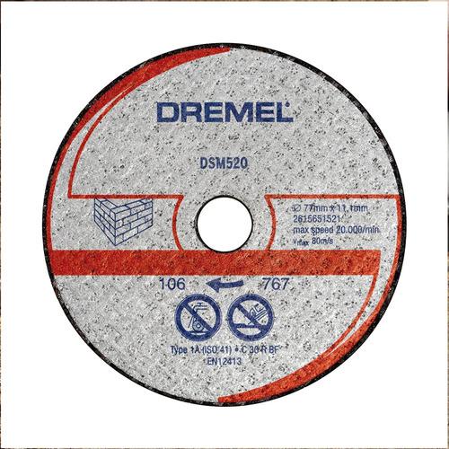 dremel disco de corte sm520 albañileria mampostería
