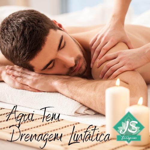 drenagem linfática ou modeladora ou relaxante- 4 sessões 30m