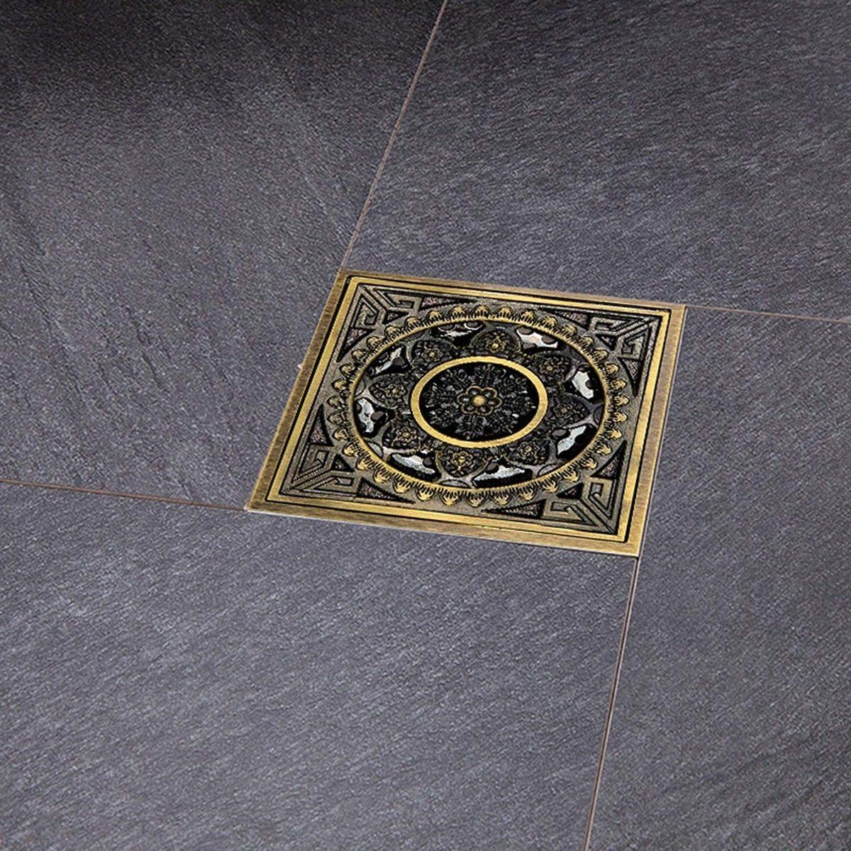 Color : 10X10CM XUCZHAI Drenaje Ducha De Piso Ronda Surge el pie del Piso de Drenaje for el ba/ño Cubierta de Fondo de Empuje hacia Abajo Ducha tap/ón de Drenaje 10X10CM O 15x15cm