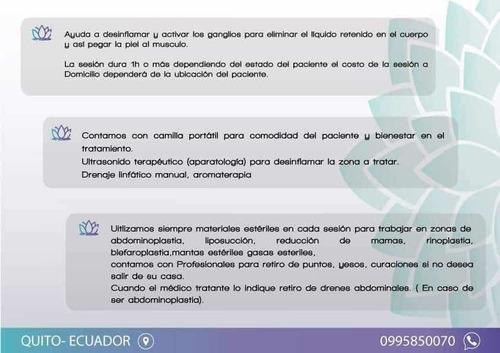 drenajes linfáticos a domicilio 24/7