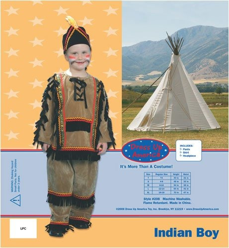 dress up america deluxe boy indio traje determinada del n...