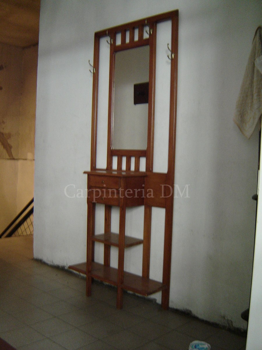 Dressoire Con Espejo Y Perchero En Roble Carpinteriadm 7 227  # Muebles Dadaglio