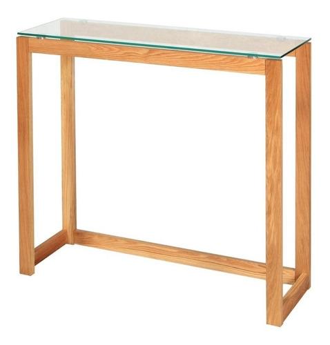 dressoire vidrio aparador nordico 100cm madera