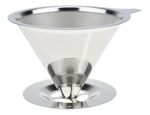 dripper filtro de café acero inoxidable barista cafe