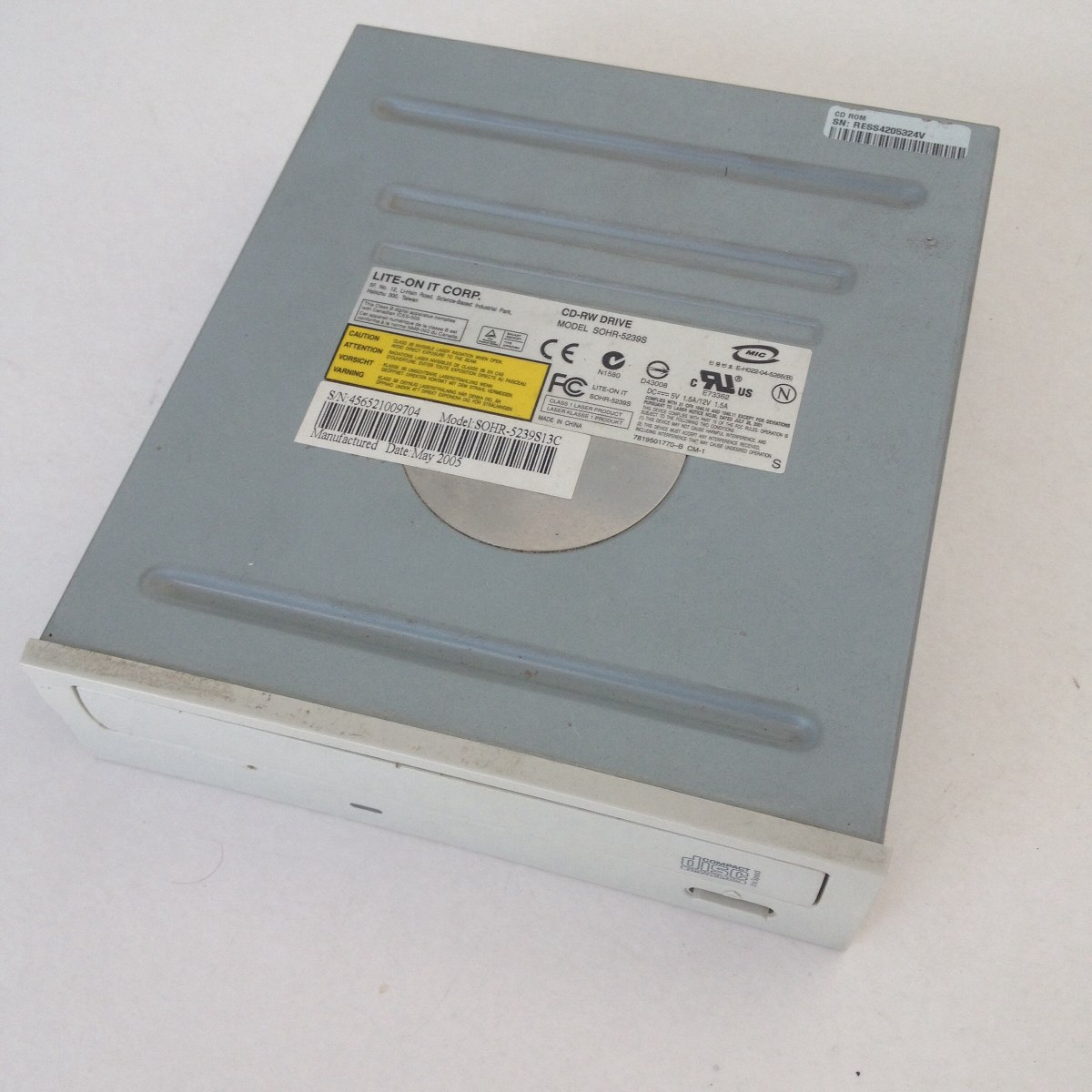 LITE ON CD RW SOHR 52395 DRIVER FOR PC