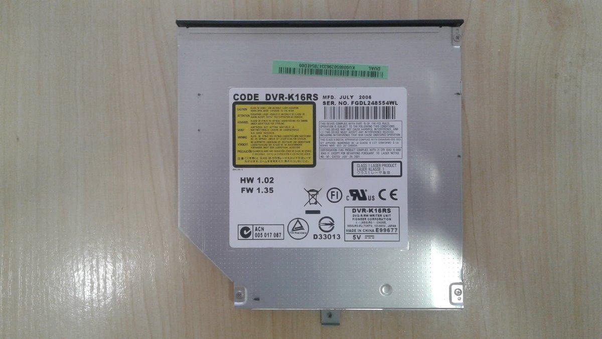 PIONEER DVD RW DVR K16RS DRIVERS FOR WINDOWS 8