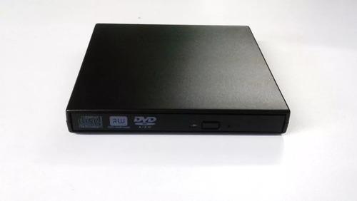 drive externo slim usb cd-rw / dvd-rom novo na caixa