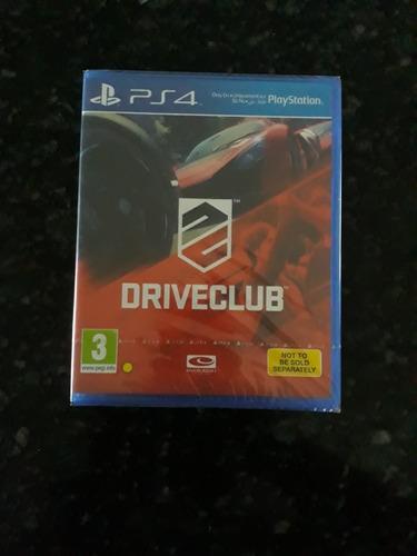 driveclub - ps4 - original - mídia física - lacrado!