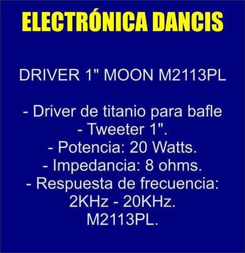 driver 1 pulgada moon dm 2113pl rosca tweeter titanio