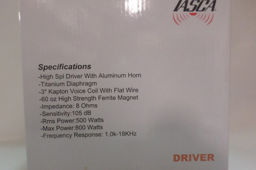 driver distinct audio xtreme  2 pulgadas 500wts rms