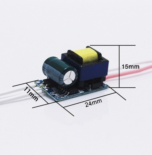 driver power led 1 a 6w entrada 110v 127v 220v  450ma 3.2v
