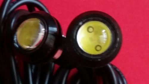 drl led ojo de aguila 18mm c/envío