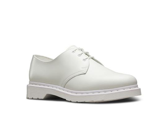 dr.martens 1461 mono white smooth 36/37/38