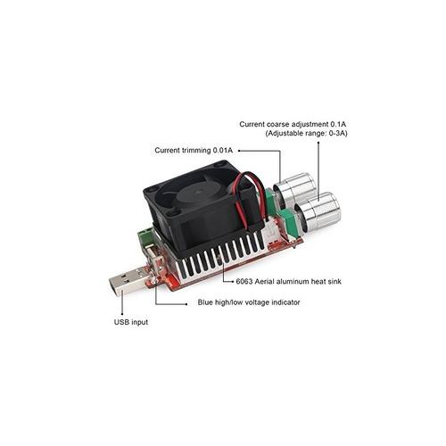 drok handy dc3-21v 3.5a usb ajustable carga electrónica cons