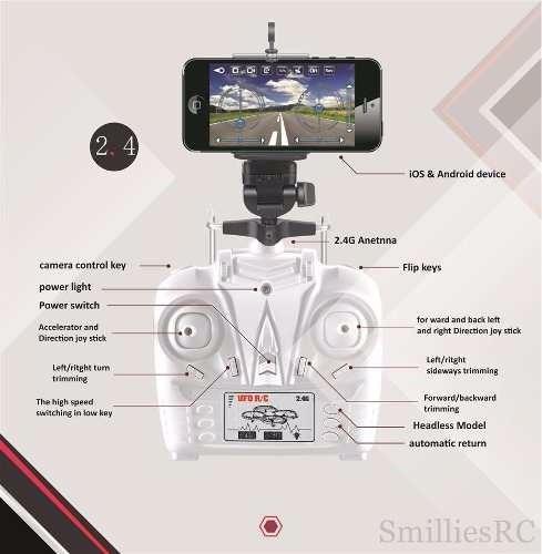 dron con cámara transmite al instante a smartphone video 360