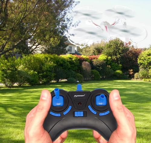 dron cuadricoptero recargable giro 360 grados grande fussion