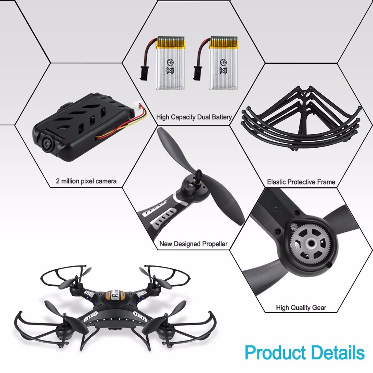 Dron Drone Helicoptero Potensic F183dh Camara 2mp 5.8ghz ...