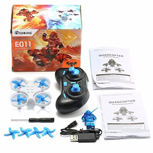 dron eachine e011 mini nano quadcopter drone rc azul