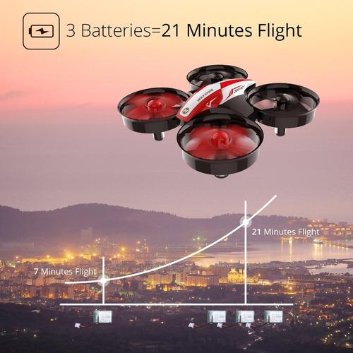 dron holy stone hs210 rc nano quadcoptero + 3 baterias