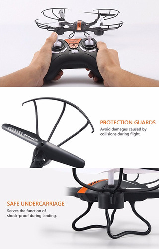 dron jjrc h33 orange rc 2.4ghz 4ch professional quad drone
