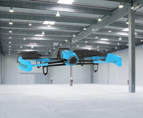 dron parrot bebop quadcopter azul importado