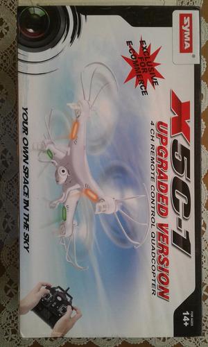dron syma x5c-1 rc quadcopter drone hd + 4 baterias y cargad