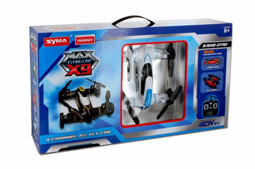 dron syma x9 flying car quadcopter drone 4ch 2.4ghz blanco