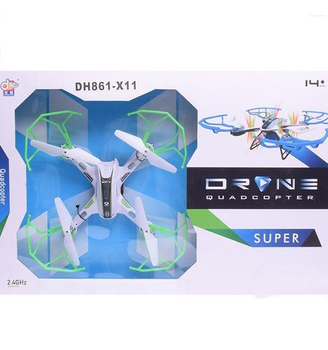 drone a radio control con luz y bateria recargable mas acces