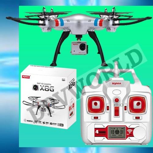 drone camara syma x8g camara hd 8 mp axis 360 200m
