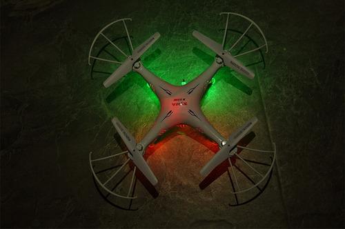 drone com câmera syma x5sw fpv wifi + 5 baterias e 2 motores