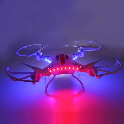 drone con camara + memoria 2 gb color blanco