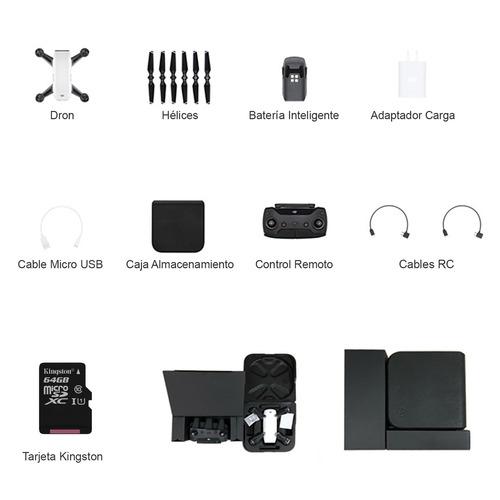 drone dji spark con control remoto + tarjeta kingston 64gb