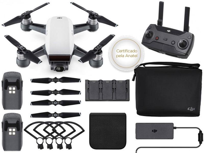 Drone Dji Spark Fly More Combo White Alpine C/ Radio ...