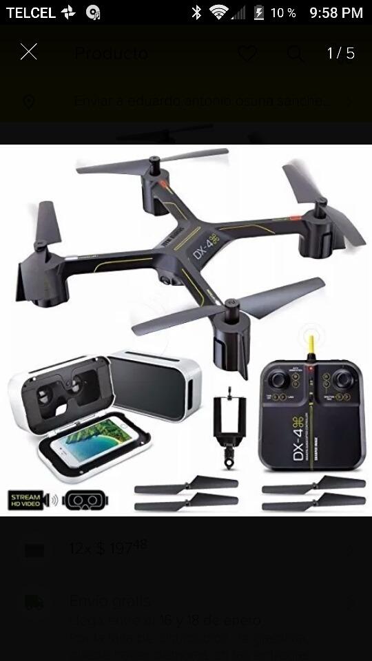 Drone Dx 4 Sharper Image 75500 En Mercado Libre