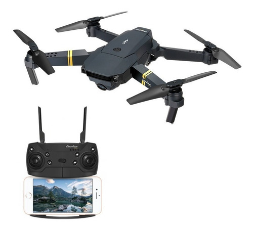 drone eachine e58 com camera wifi fpv pocket dobravel