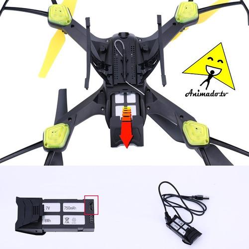 drone fpv + cámara hd transmite en vivo 2mpx + capacitación