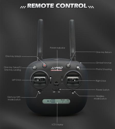 drone fpv rc wifi 1080p/5mp cámara gps 6eje jjrc jjpro x5