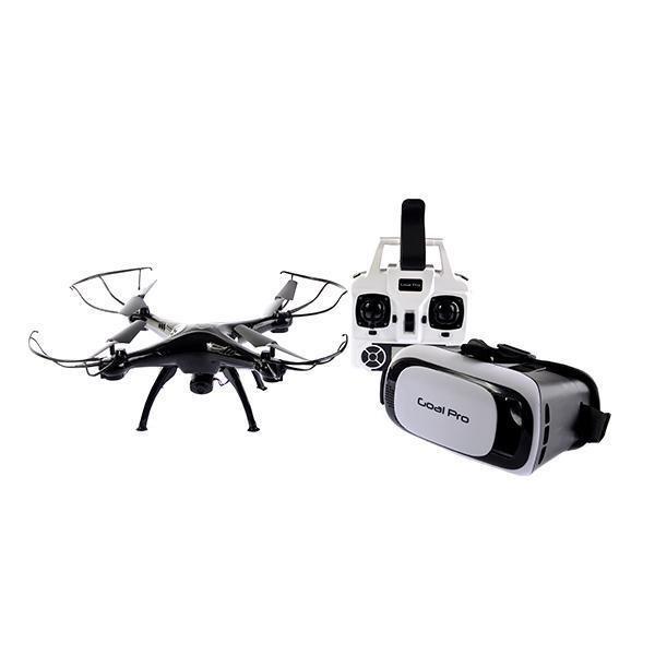 cf39ba2214fa0 Drone Goal Pro Intruder H33 Wi-fi Câmera + Óculos Preto - R  397
