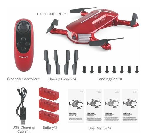 drone goolrc t37 wifi fpv 720p hd plegable rc+2 baterias