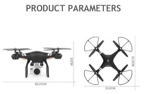 Drone Hjhrc + 4 Baterias + Câmera Ao Vivo + Headless