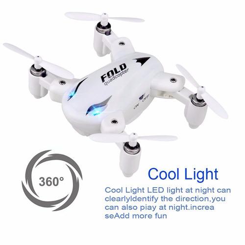 drone mini plegable 2.4g,5 en 1,4ch,6axis ,360° recargable