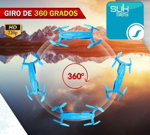 drone mini plegable con camara radio control rc 360 hd vivo
