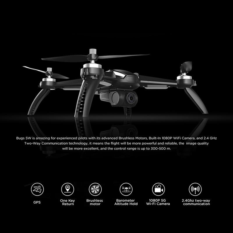 Drone Mjx Bugs 5w B5w Brushless Gps Fullhd 3 Baterias