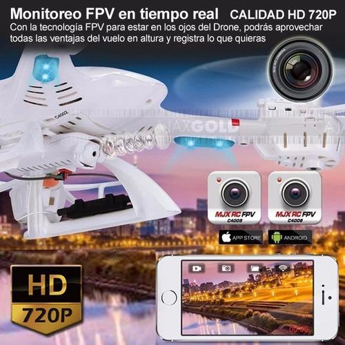 drone mjx x400 cuadricoptero camara hd fpv gps vuelta a casa