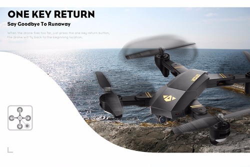 drone plegable visuo xs809w cámara 2mp hd fácil de  volar