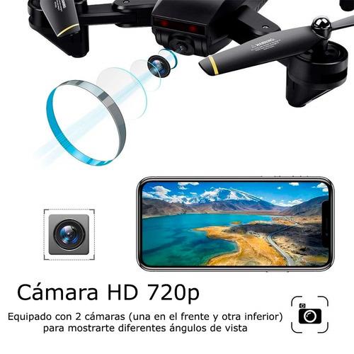 drone plegable wifi cámara dual fpv seguimiento óptico