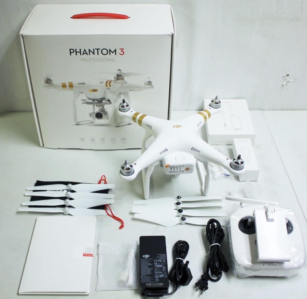 4c6b5d25f63 Drone Profesional Dji Phantom Pro 3,4k - $ 2.000.000 en Mercado Libre