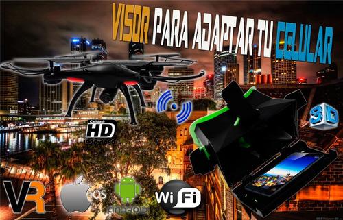 drone profesional resistente color negro video audio hd
