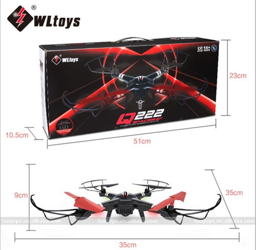 drone q222k fpv control altura wifi video, regresa solo